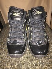 item 4 Pre-owned Reebok Question Iverson Mid Black Gold 10th Anniversary  V48294 bdc22478e