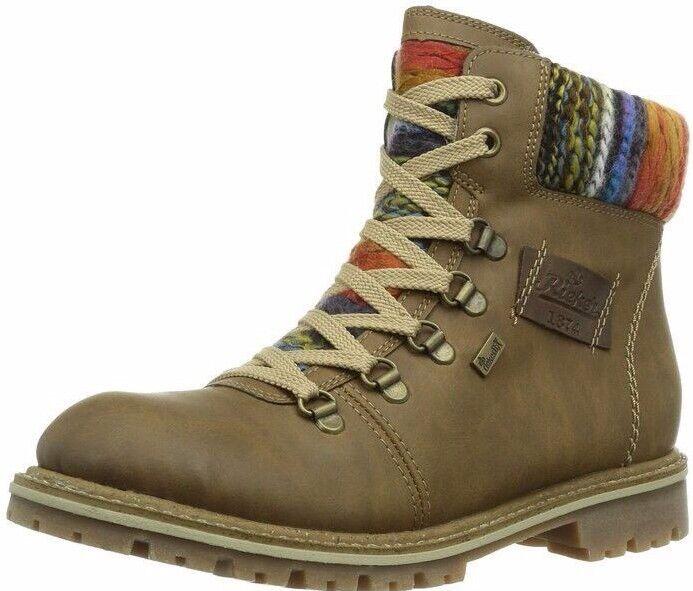 Rieker Girls' Woolly Boots Brown (K5470-22)  2.5 UK 35 EU