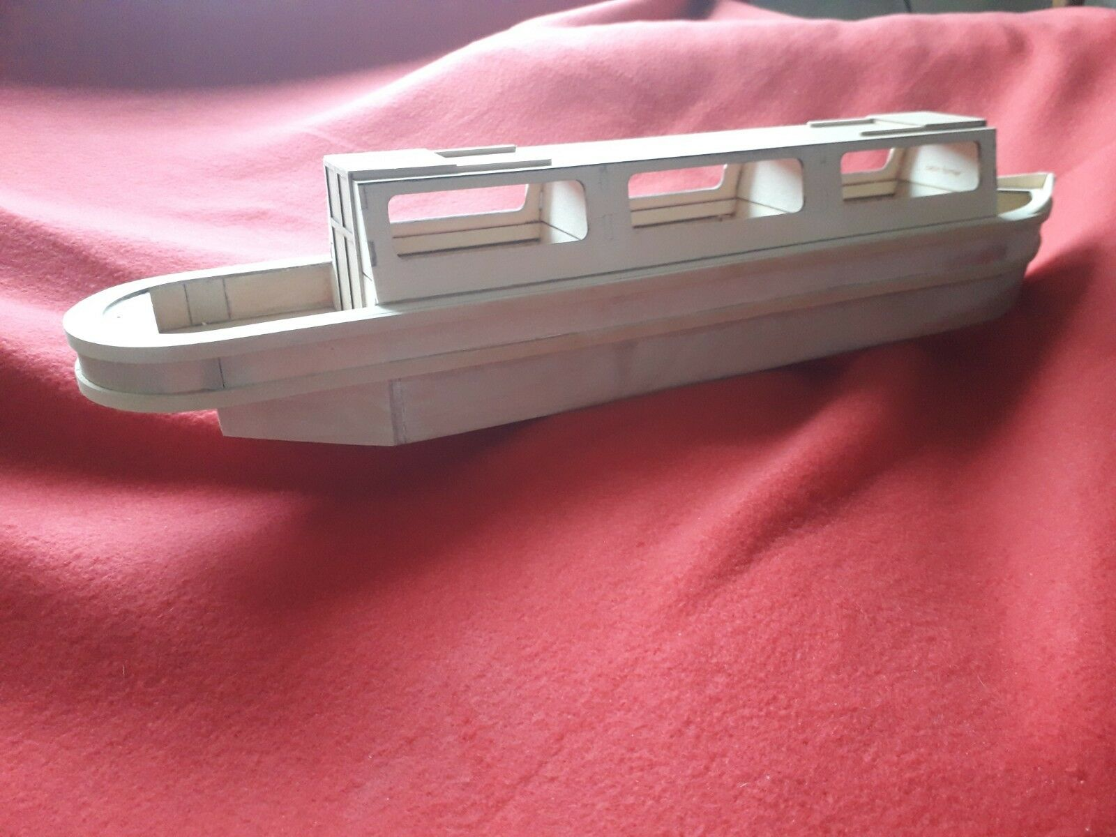Canal   narrow Boat, Wooden model boat kit. 550mm long.
