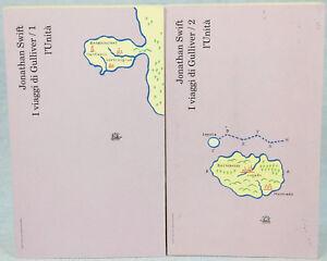 Jonathan-Swift-I-VIAGGI-DI-GULLIVER-volumi-1-e-2-ed-l-039-Unita-1993-cop-morbida