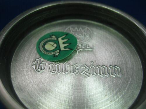 "4.5/"" Antique  German Solid Pewter Embossed /& Engraved  Cup 4 Scenes"