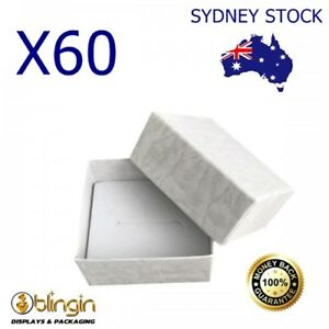 Details About Box Of 60 A Grade Solid White Cardboard Ring Gift Boxes 55mm X 48mm X 30mm