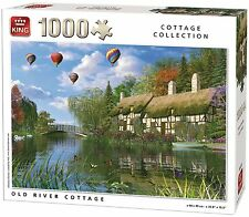 1000 Piece Cottage Collection Jigsaw Puzzle - OLD RIVER COTTAGE SCENERY 05373