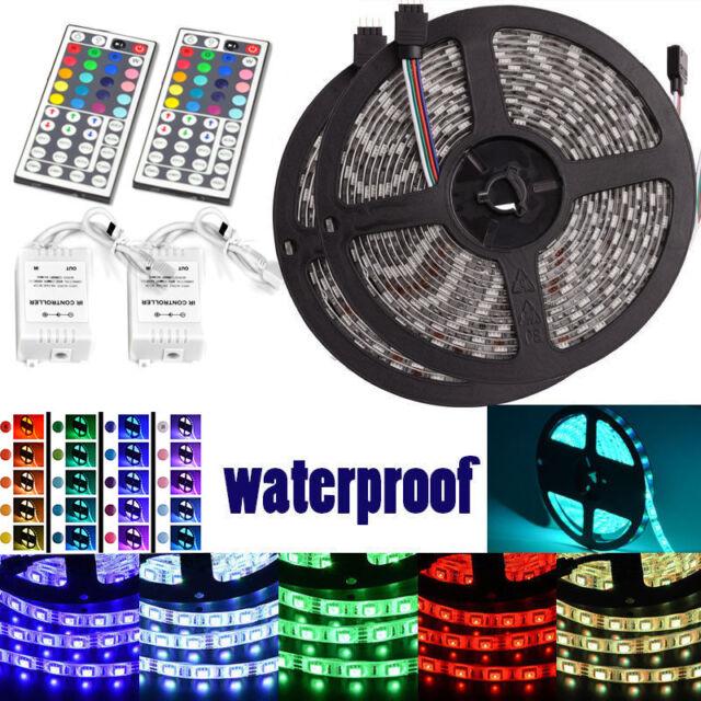 Led Strip Lighting 2*5M 32.8 Ft 5050 RGB 150 LEDs Flexible Color Changing Light