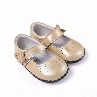 Baby First Walking Shoe Rubber Pads Girl Infant Toddler Leather Soft Sole