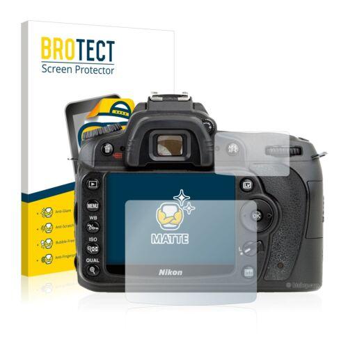 2x Nikon D90 Display Schutz Folie Matt Entspiegelt