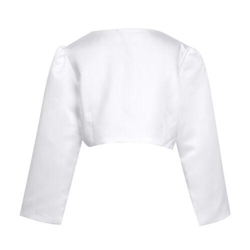 ACSUSS Girls long Sleeves Bolero Wedding Pageant Shrug Flower Dress Cover Up Short Cardigan Jacket