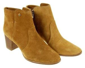 e27f0bb025e Image is loading Tory-Burch-Sabe-Suede-Ankle-Boots-Camel-Brown-