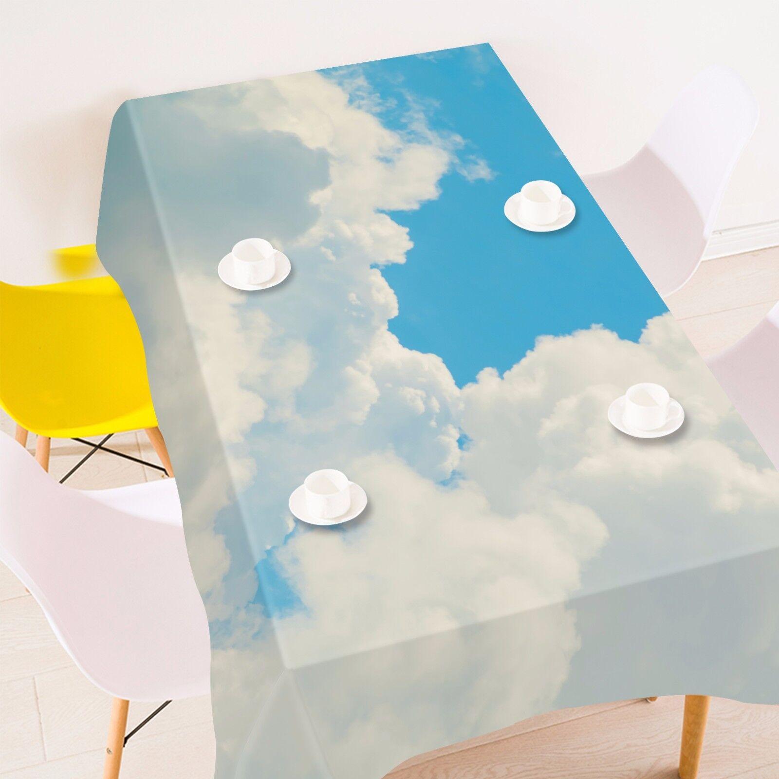 3D NUAGES 42 Nappe Table Cover Cloth fête d'anniversaire AJ papier peint Royaume-Uni Citron