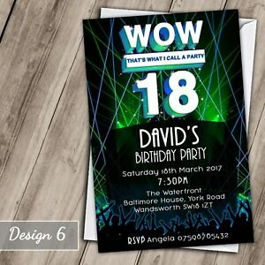 Image Is Loading Wow Party 30th 40th 50th 60th Invitations Personalised