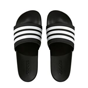 sale retailer 67c12 834dc Image is loading ADIDAS-ADILETTE-CLOUDFOAM-PLUS-STRIPES-SLIDES-SZ-7-
