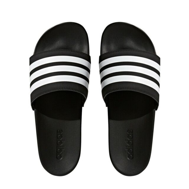 adidas Adilette Cloudfoam Plus Stripes Slides Men s Core Black ... e1ff2af9d