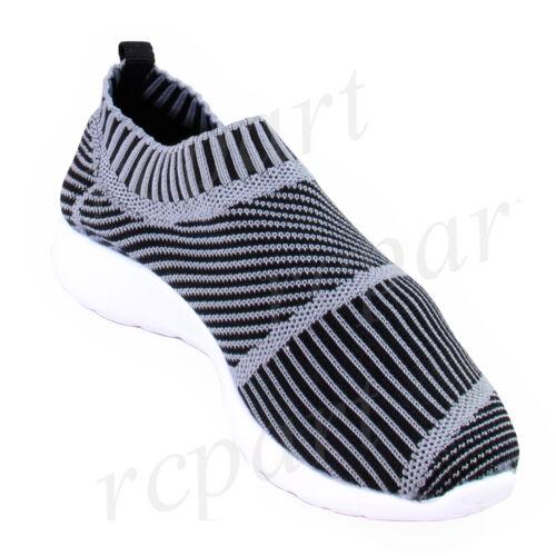 New girl/'s kids slip on shoes comfort casual black school walk all season