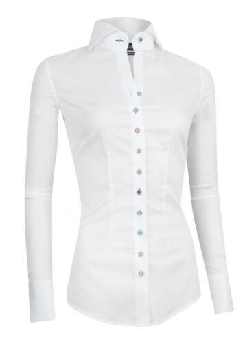 Weiße Napoli 48 Farbigen Bluse Cavallaro Mit Knöpfen Langarm Elegant Größe FPdq55x