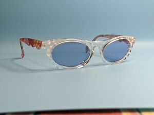 VINTAGE-NEOSTYLE-PLAZA-PLEXIGLASS-SUNGLASSES-FLOWER-DETAILS-MADE-IN-GERMANY
