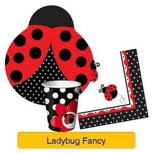 LADYBUG-FANCY-Birthday-Party-Range-Girl-1st-Tableware-Supplies-amp-Decorations