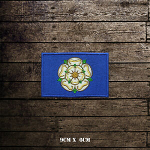 YORKSHIRE Flag Embroidered Iron On Sew On Patch Badge For Clothes Etc