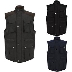 Mens-Gilet-Body-Warmer-Warm-Winter-Sleeveless-Vest-Waistcoat-Jackets-New-S-2XL