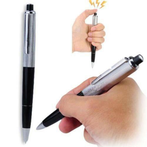 Fancy Electric Shock Pen Toy Gag Ballpoint Working Gift Prank Joke Shocker