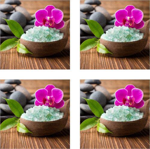Azulejos pegatinas azulejos imagen flores orquídea spa wellness sal decoración Bad