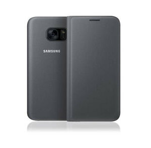 Official Genuine Samsung Galaxy S7 Edge Flip Wallet Case Cover Black Ebay