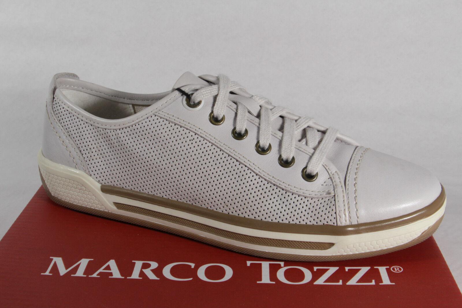 Marco Tozzi Scarpe con Lacci Scarpe da Ginnastica Basse Vero Cuoio Bianco Nuovo