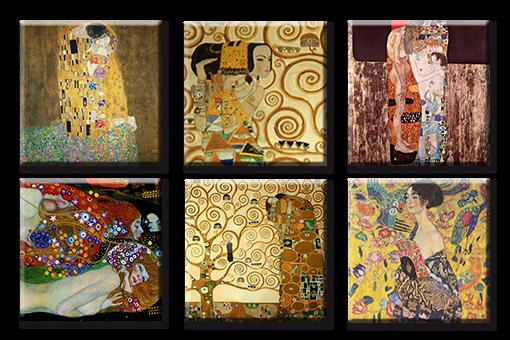 Time 4 image GUSTAV KLIMT LE BISOU arbre de la vie des images toile giclée type art