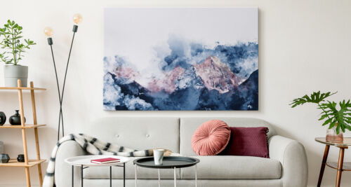 Canvas LEINWAND BILD Abstrakt Berge Malerei Kunst XXL 14545 KUNSTDRUCK