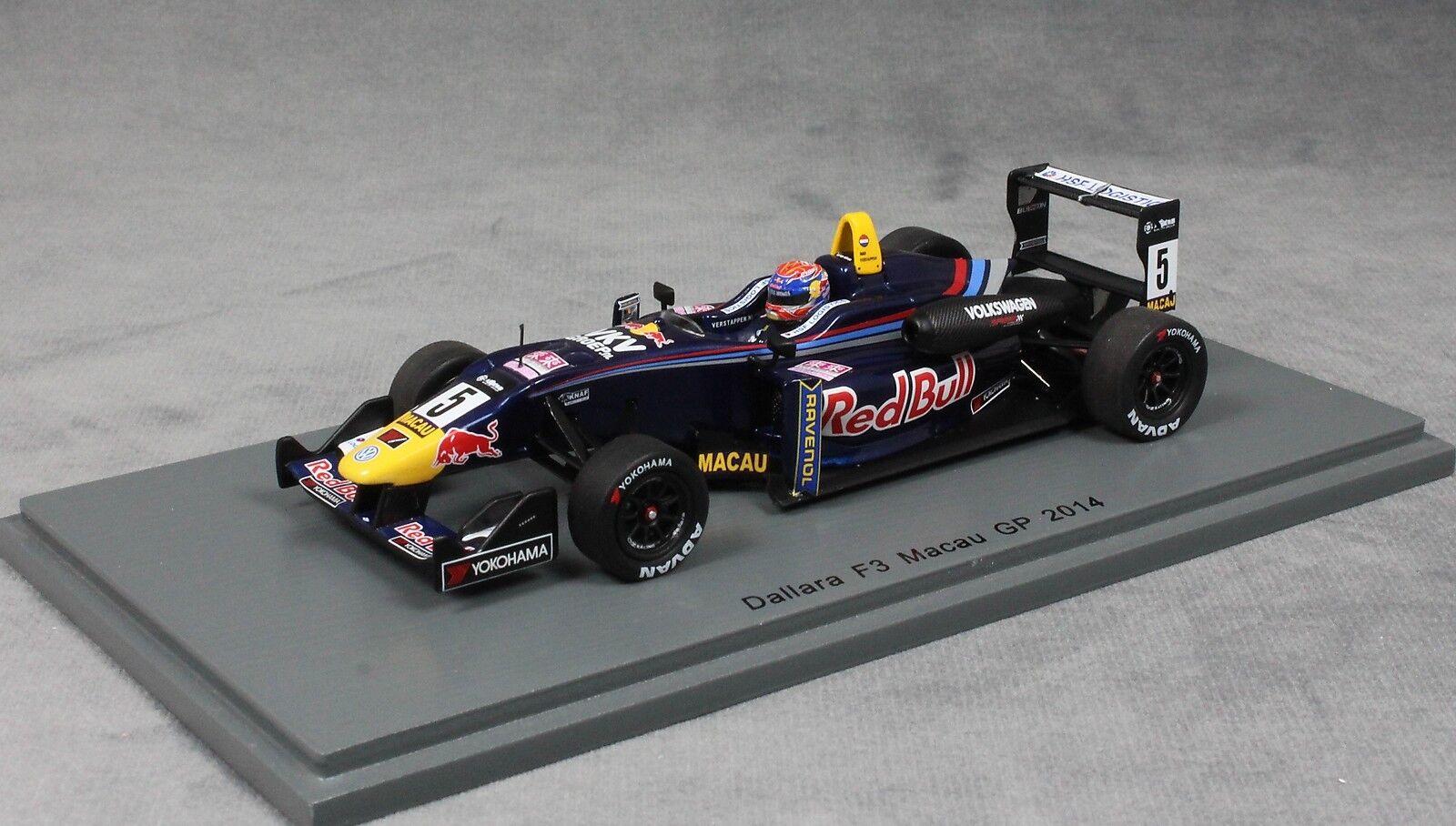 Spark Dallara Volkswagen Macau GP F3 Race 2014 Max Verstappen SA105 1 43 NEW