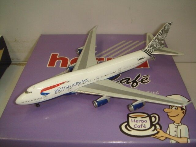 Herpa Wings 500 British Airways BA B747-400  World Tail - Japan  1 500 NG