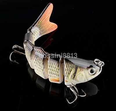 6 Jointed Swimbait Fishing Lure Crankbait Bait Hook Fishing Tackle 10cm/20g