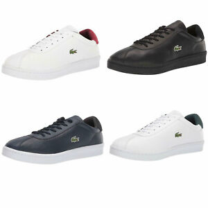 NEW Lacoste Mens Casual Shoes Masters Lace-Up Fashion Sneakers
