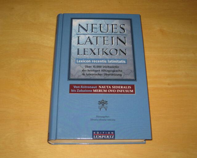 NUOVO latino Enciclopedia Lexicon recentiS latinitatis 15000 parole chiave traduzione