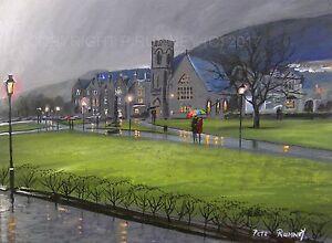 Pete-Rumney-Art-Original-Canvas-Painting-Rain-At-Fort-William-Scotland-Artwork