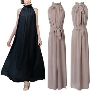 Womens-Chiffon-Prom-Cocktail-Gown-Skater-Formal-Long-Dress-Evening-Party