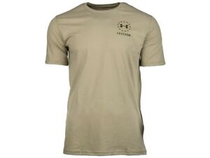 24e1be0c14 Details about Under Armour Men's UA Freedom Logo T-Shirt 1330059 CITY KHAKI  SMALL MEDIUM