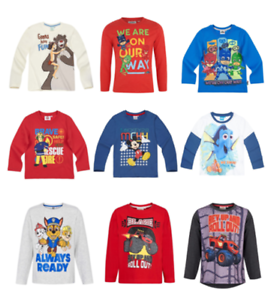 Boys-Kids-Official-Licensed-Disney-Various-Long-Sleeve-T-Shirt-Top-2-10