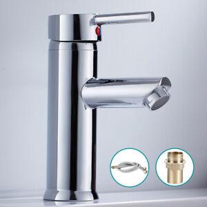Single Basin Mixer Tap Bathroom Sink Taps Lever Bathroom Faucet Brass,Chrome
