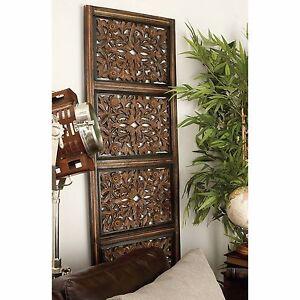 Large Rustic Tuscan Elegant Moroccan Pattern Wood Wall