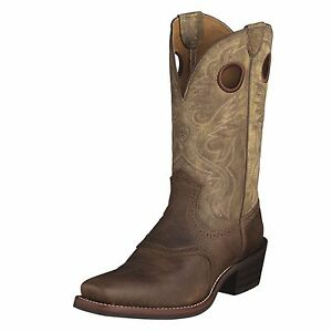 5bfa958f459 La foto se está cargando Ariat-Mens-Heritage-Roughstock-Cowboy-Boot -Earth-Brown-