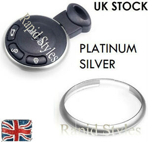 Silver Chrome Key Fob Trim Ring Rim Mini Cooper 2008 2009 2010 2011