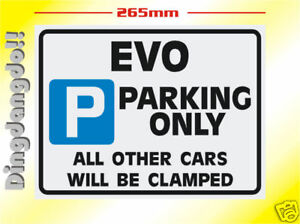 Evo-Mitsubishi-Parking-Sign-Novelty-Gift