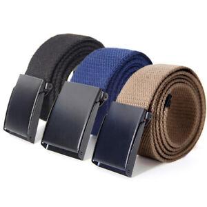 Men/'s Outdoor Sports Military Tactical Nylon Waistband Canvas Web Belt Hot