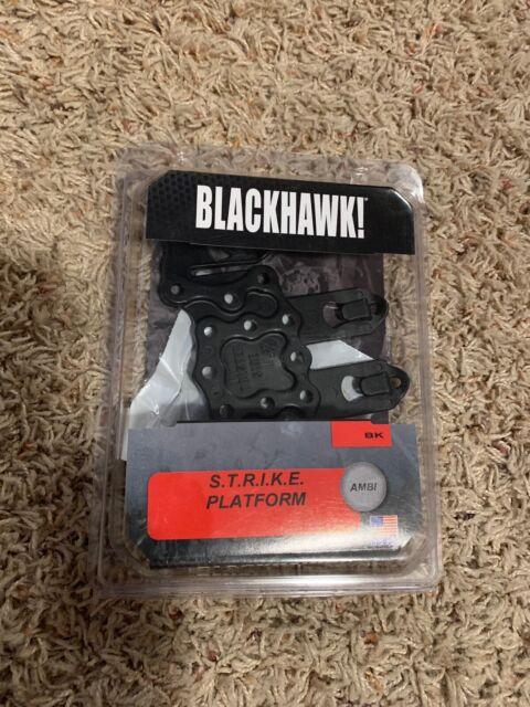 Blackhawk 38CL63BK Black Serpa Strike Ambidextrous Holster Molle Platform