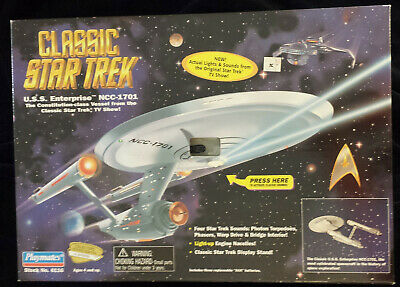 Classic Star Trek U.S.S Enterprise With Actual Lights and Sounds Playmates 6116