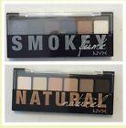 New NYX Cosmetics The Natural Or Smokey Fume Eye Shadow Palette Choose Shade
