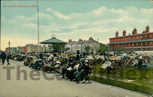 CLACTON-ON-SEA-Band-Stand-Postcard-ESSEX-Boots-Cash-Chemists