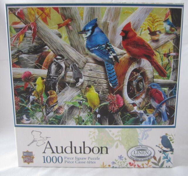 Popular Backyard Wild Birds Of N A Jigsaw Puzzle: Masterpieces 1000 Pc Jigsaw Puzzle Audubon BACKYARD BIRDS