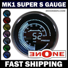 MOOKEEH MK1 7 LED COLOR 52MM UNIVERSAL ELECTRIC FUEL PRESSURE GAUGE WITH SENDER