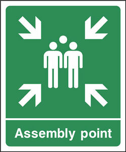 FIRE ASSEMBLY POINT WORKPLACE HAZARD HEALTH & SAFETY SIGNS ...